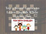 Top 4 Board Games to Learn English While Having Fun