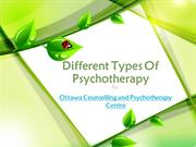 Different Types Of Psychotherapy