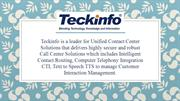 Teckinfo Solutions Pvt Ltd | Call Center Software Solution