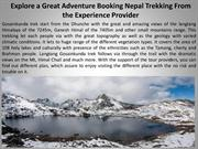 Explore a Great Adventure Booking Nepal Trekking From the Experience P