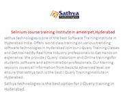 Selenium | Best Selenium  training in hyderabad
