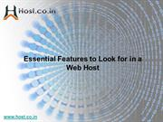 Essential Features to Look for in a Web Host