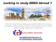 Study MBBS Abroad Consultant for Indian Students