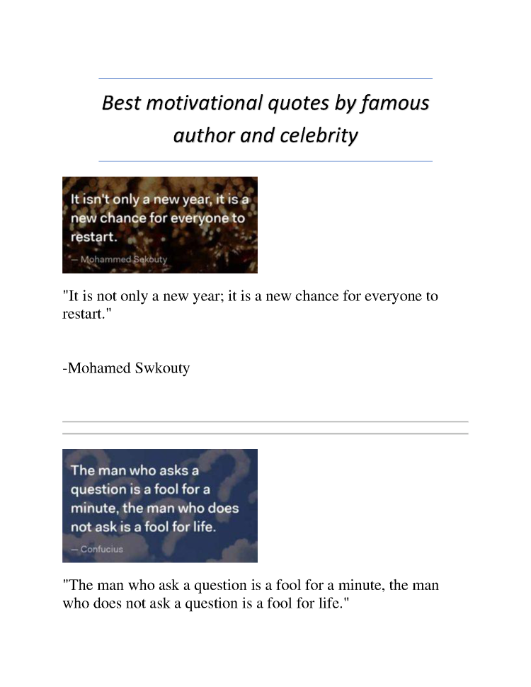 Best Motivational Quotes By Famous Author And Celebrity Authorstream