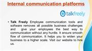 Talk Freely- Internal communication platforms for better communication