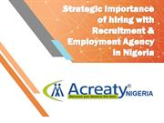Strategic Importance of hiring with Recruitment & Employment
