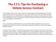 Tips for Purchasing a Vehicle Service Contract