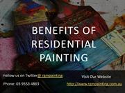 Benefits of Residential Painting - RGM Painting