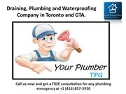Draining, Plumbing and Waterproofing Company in Toronto and GTA