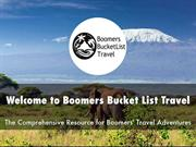 Boomers Bucket List Travel Presentation