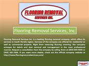 Fort Lauderdale Floor Removal Service