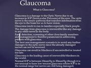 Glaucoma Presentation Edited Version
