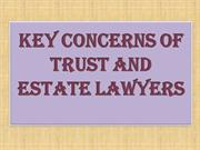 Key Concerns of Trust and Estate Lawyers