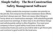 Simple Safety- The Best  Construction Safety Management Software
