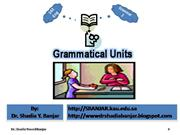 Grammatical Units, by Dr. Shadia