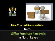 Hire Trusted Removalists from Giffen Furniture Removals in North Lakes