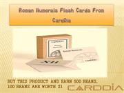 Roman Numerals Flash Cards From CardDia