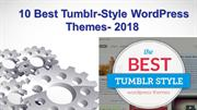 10 Best Tumblr-Style WordPress Themes- 2018