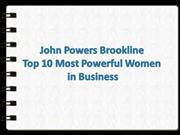 John Powers Brookline Top 10 Most Powerful Women in Business