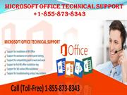 MICROSOFT OFFICE TECHNICAL SUPPORT NUMBER +1-855-873-8343