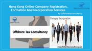 Hong Kong Company Registration, Formation and Incorporation Services