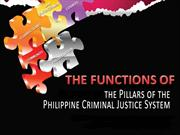 Functions of Pillars of the CJS in Philippines