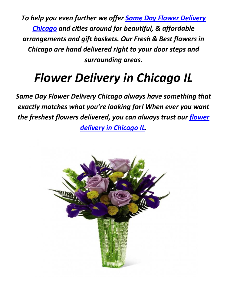 Cheap & Best Flower Delivery in Chicago IL | 773-649-5132