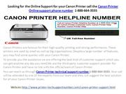 Canon Printer Support Number 1-888-664-3555