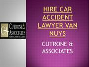HIRE CAR ACCIDENT LAWYER VAN NUYS