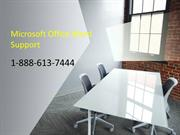 Microsoft Office Word Support | MS Word Support | 1-888-613-7444