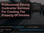 Paving Contractors in Melbourne - Think Pink Handyman