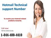 Microsoft Hotmail Technical Support  Number 1-844-400-4410