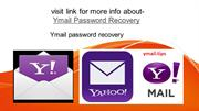Ymail password recovery phone number