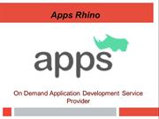 Mobile App Development | On-Demand App | Apps Rhino