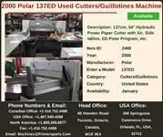 Buy-Used-2000-Polar-137ED-Cutters-Guillotines-Machine