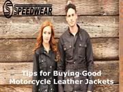 Tips for Buying Good Motorcycle Leather Jackets