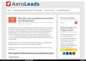 Why We Love Lead Enrichment (And You Should too!