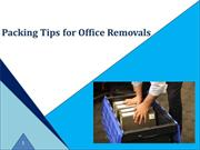 Packing Tips for Office Removals