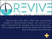 Best Hair Loss Treatment in UK | Revive Hair & Skin Clinic