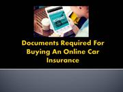 Documents Required For Buying An Online Car Insurance