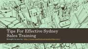 Tips For Effective Sydney Sales Training