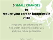 6 small changes to reduce carbon footprints in 2018