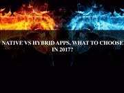 NATIVE VS HYBRID APPS || Native App Development Company Germany ||