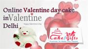 Find same day online Valentine day Gifts and cakes in Delhi