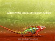 Custom Printed Labels and Stickers in Australia