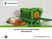 Coconut Water Processing Machines Manufacturer