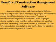 Benefits of Construction Management Software