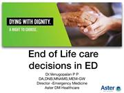 End of Life Care Decisions [EoLC] in Emergency departments