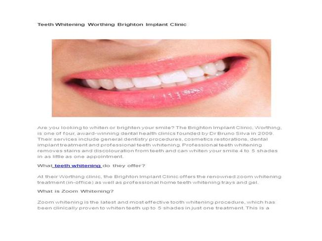 Teeth-Whitening-Worthing-Brighton-Implant-Clinic |authorSTREAM