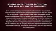 Norton Security Suite Protection for Your PC –help